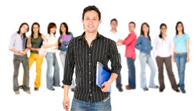 Man student smiling Stock Photography
