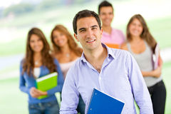 Man with students Royalty Free Stock Images
