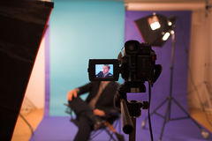 Man in studio Stock Photography
