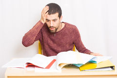 Man studying Royalty Free Stock Images