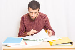 Man studying Royalty Free Stock Photo