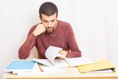 Man studying Stock Photo