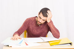 Man studying Stock Image