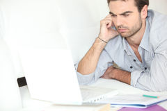Man studying Royalty Free Stock Photography