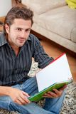 Man studying at home Royalty Free Stock Photos