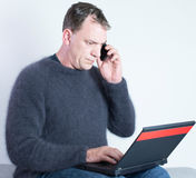 Man studying from home Royalty Free Stock Image