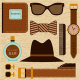 Man stuff. Hipster collection. Stock Photography