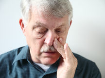 Man with stuffy nose Stock Photos