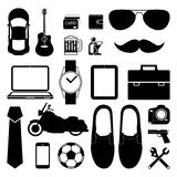 Man style infographics elements and icons set for Modern Royalty Free Stock Photography