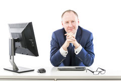 Man of success in the office Stock Photos