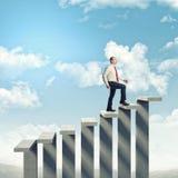 Man on success stair Stock Photo