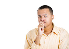 Man sucking thumb Royalty Free Stock Photo