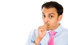 Man sucking thumb Stock Images