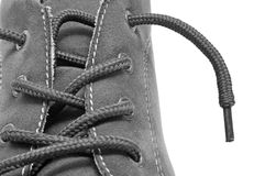 Man suede shoe Stock Images