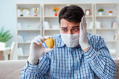 The man suffering from allergy - medical concept Royalty Free Stock Photos