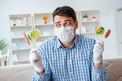 The man suffering from allergy - medical concept Royalty Free Stock Photo