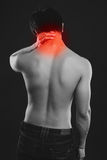Man suffering from backache Stock Image