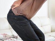 Man suffering from backache Stock Image