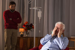 Man suffering from critical illness Royalty Free Stock Photos