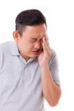 Man suffering from eye sickness Royalty Free Stock Photo