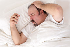 Man suffering from a hangover Royalty Free Stock Photos
