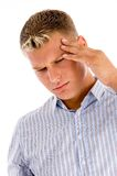 Man suffering from headache Royalty Free Stock Photos