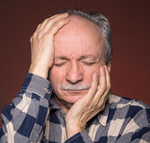 Man suffering from  headache Royalty Free Stock Images
