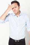 Man suffering from headache Stock Photo