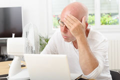 Man suffering from the heat Royalty Free Stock Image