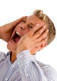 Man suffering from high headache Stock Photography