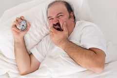 Man suffering from insomnia Stock Images