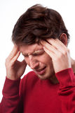 Man suffering from migraine Royalty Free Stock Image