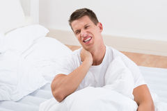Man Suffering From Neckache Stock Image