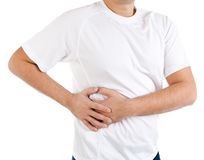 Man suffering from pain in the right side Royalty Free Stock Photo