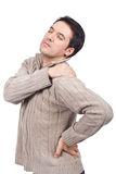 Man suffering from shoulder pain Royalty Free Stock Image