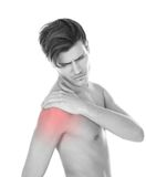 Man Suffering From Shoulder Pain Royalty Free Stock Photography