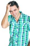 Man suffering a strong headache Stock Photography