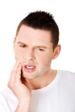 Man suffering tooth pain Stock Photo