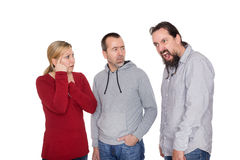 Man is suffering about the tourette syndrome Stock Photo