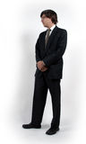 Man in suit. A man in a formal suit stock photography