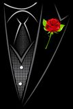 Man in Suit. Illustration of man in suit with red rose tucked Stock Images