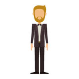 Man in suit with beard without face. Vector illustration Stock Images