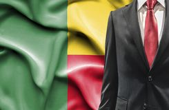 Man in suit from Benin stock images