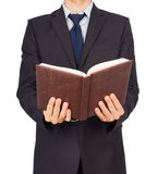 Man suit book Royalty Free Stock Images