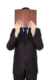 Man suit book Royalty Free Stock Image