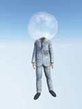 Man in suit with Bubble head Royalty Free Stock Photo