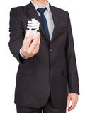Man suit bulb Royalty Free Stock Photography