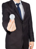 Man suit bulb Royalty Free Stock Photo