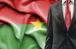 Man in suit from Burkina Faso royalty free stock photography