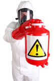 Man in a suit of chemical protection Royalty Free Stock Image